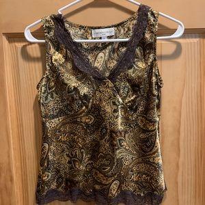 Jones New York paisley print camisole, EUC